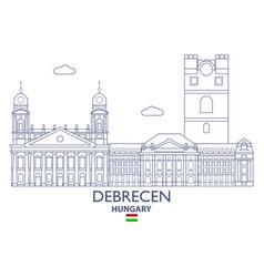 debrecen city skyline vector image