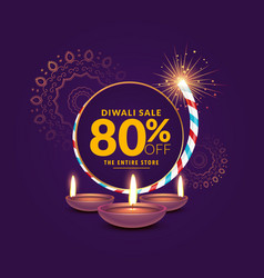 Diwali festival sale template background with vector