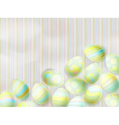 Easter eggs on paper background EPS 10 vector image
