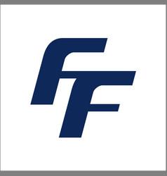 ff letter logo template initials ff logo vector image