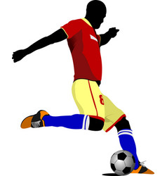 Football player colored vector