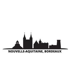 France bordeaux city skyline isolated vector