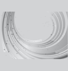 Grey background rounded abstract element vector