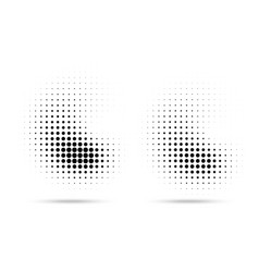 halftone dots curve pattern texture background set vector image