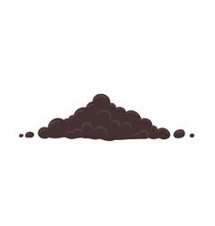 Heap soil soil for growing plants pile vector