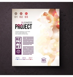 Identity Template for Business Project Concept vector image