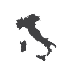 Italy map silhouette vector image