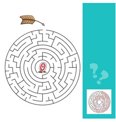 labyrinth with arrows - game with vector image vector image