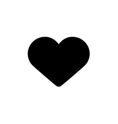 like black heart button icon vector image