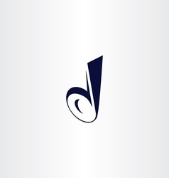 Logotype letter d icon symbol sign stylized design vector
