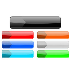 Menu buttons colored set of web interface icons vector