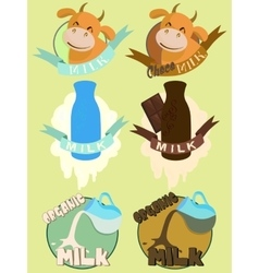 Milk labels vector
