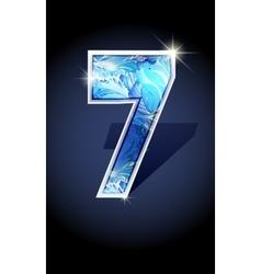 number blue shine design vector image