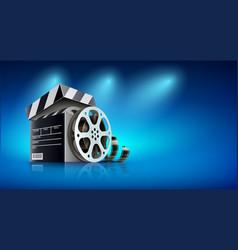 Online cinema banner for web vector