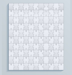 parts puzzles seamless pattern jigsaw vector image