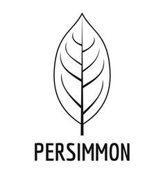 Persimmon leaf icon simple black style vector