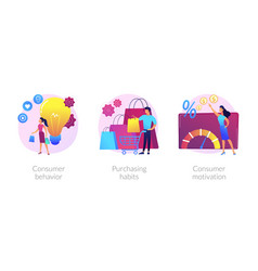 purchase decision process concept metaphors vector image
