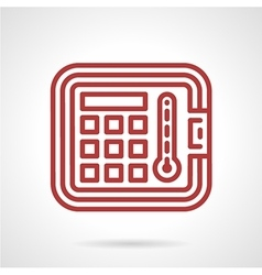 Red line icon for autoclave vector