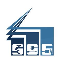 Repair business houses vector