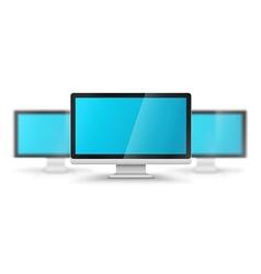 Row computer displays vector