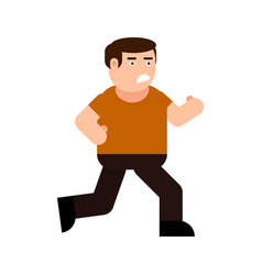 running frightened man icon vector image