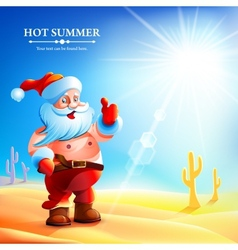 Santa Claus hot in summer vector