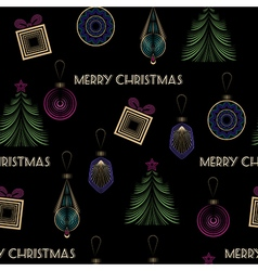 Seamless Christmas pattern in art deco modern vector image