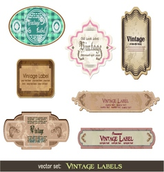 set of vintage labels vector image