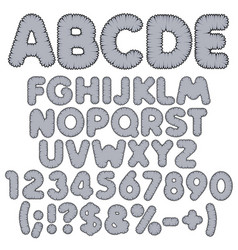 shaggy color alphabet letters numbers and signs vector image