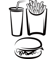 simple with fast food vector image