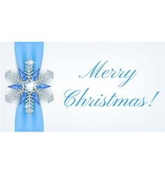 snowflake brooch vector image