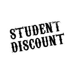 Student Discount rubber stamp vector