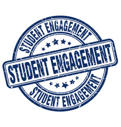 Student engagement blue grunge stamp vector