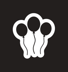Style black and white icon inflatable balloon vector