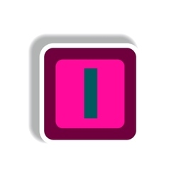 Stylish icon in paper sticker style cube toy vector