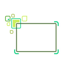 stylized abstract frame vector image