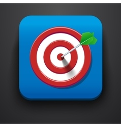 Target symbol icon on blue vector image