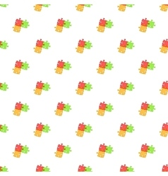 Three puzzle pattern cartoon style vector