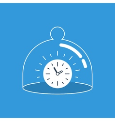 Time management and reservation concept vector