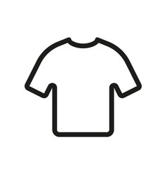tshirt icon on white background vector image
