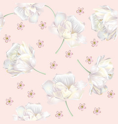 tulip pattern pink vector image