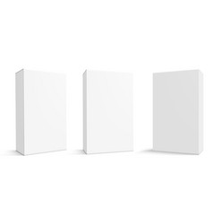 Various angle 3d blank package box set vector