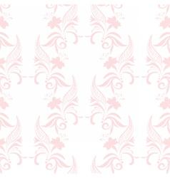 Vintage floral pattern in pink color vector