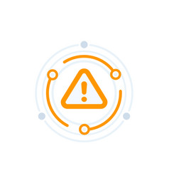 warning alert icon vector image