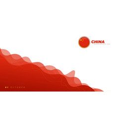 Waving red background design china independence vector