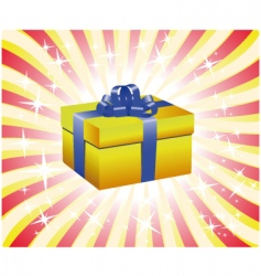yellow gift box illustration vector image