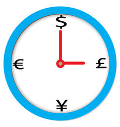 time of money sign time of money on white vector image