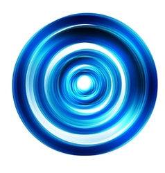 abstract circle blue curve vector image