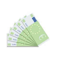 euro banknote fan vector image