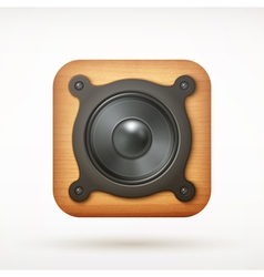 icon speaker vector image